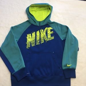 NIKE 1/4 ZIP FRONT PULLOVER HOODIE - THERMA-FIT